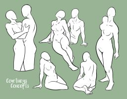 Poses 001 by CourtneysConcepts