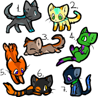 Cat Adoptables (Open) by Soul--Adopts