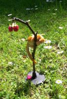 Dormouse with Raspberries by ApostacyArt