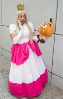 Peach and the Goomba by gnbcosplay