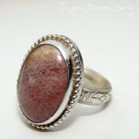 SS, Fancy Jasper Coctail Ring by che4u