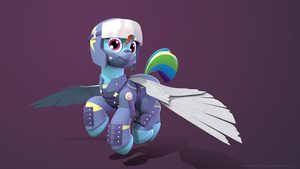 3D Crystal War Rainbow Dash (Render) - Variant 1 by ChronoTrickle