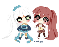 Chibi commission for Elliren by Miyee