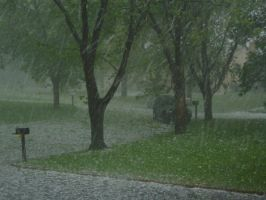 Hail Storm-Down the Street by SilverPyroLupogryph