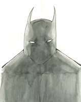 Batman (watercolor) by BeckettGrice