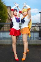 Sailor Moon: Sailor Mars and Sailor Venus by Nami06