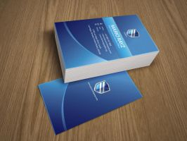 Security shield  business card by Lemongraphic
