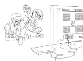Brother Game Time by senji-comics