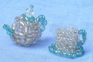 Beaded teaset by Craftcove
