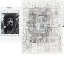 Jimi Hendrix Pattern Portrait by Leo-Garth