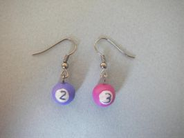 2nd and 3rd ball earrings by maluka3