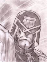 Judge Dredd Sketch Shot by StevenSanchez