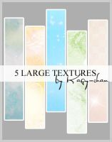 5 large textures by Kagychan