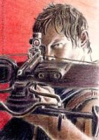Norman Reedus mini-portrait by whu-wei