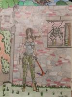 Lara Croft at the ruins1 by Momtat31
