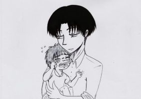 Papa Levi: There There Eren by Batsu13angel