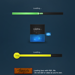Loading bars PSD. file by Agresidy