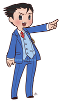 Chibi Phoenix Wright Cutie Attorney by roseannepage