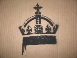 Crown Stencil by earwig20