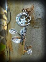 Moonlit Dew Drop Fantasy Key by ArtByStarlaMoore