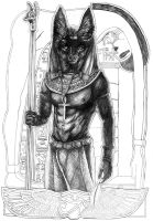 Anubis WIP by JaniceDuke