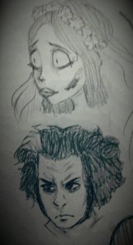 Sweeney Todd and Emily by Canni6alBunny
