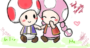 Toad and Toadette by cracket