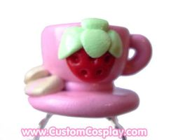 Strawberry tea cup ring by The-Cute-Storm