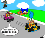 The blue shell? by DarkDiddyKong