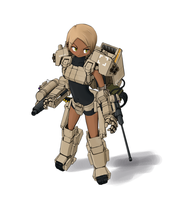 Totally practical combat exoskeleton by RoughlyHalfofSweden