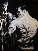 Alex Ross Batman Fan Art Batman Black and White by Donkay6646