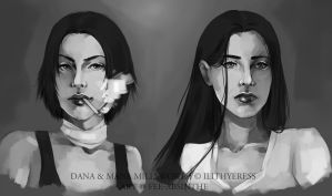 Portrait Commission: Dana and Mana by fee-absinthe