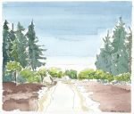 Watercolour and ink--East Sooke park by Avalon620