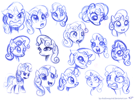 Sweetie Belle Sketches by KP-ShadowSquirrel