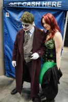 Indiana Comic Con Joker and Ivy by SirKirkules