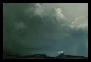 The Light House - Cloud Study by steeldolphin