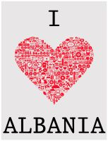 I LOVE ALBANIA by ChR1sAlbo