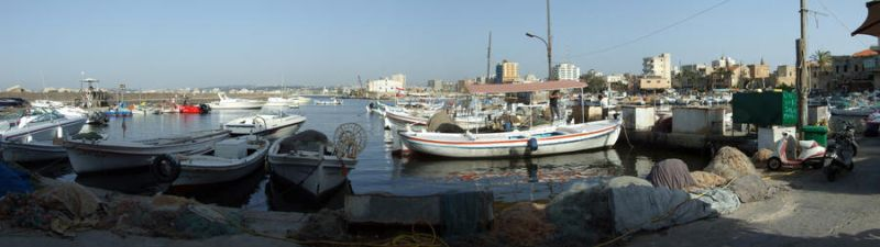 Tyr the old port, south Lebanon by Bizriart