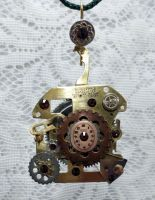 SOLD - Holiday Gears Steampunk Ornament by 2ndWindAccessories