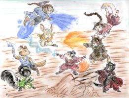 A:tla - Furry Fight by Porcubird