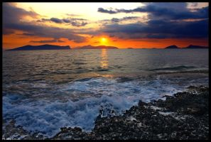 sunrise over the islands by rueD