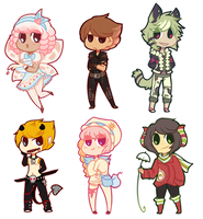 more chibis! by hunniebuzz