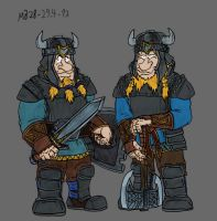Fili and Kili in armour by Mara999