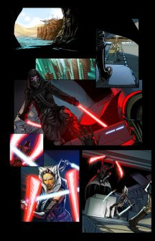Ahsoka Tano Touching Darkness 01 by thecreatorhd