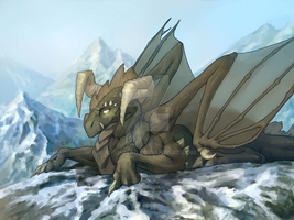 Commission: Earth dragon by AironMag