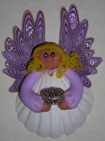 Lavendar Seashell Angel by Celtic-Dragonfly