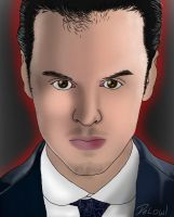 Portrait practice, Moriarty by DeLowl