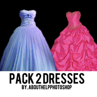 Pack 2 Dresses by AboutHelpPhotoshop