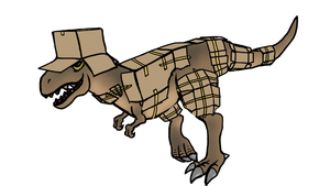 Battlesaurus Rex by LethalMoose