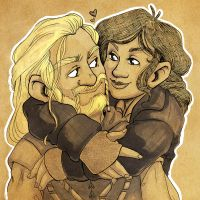 Fili and Sigrid by nerdeeart